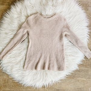Madewell || Merino Wool and Leather Sweater